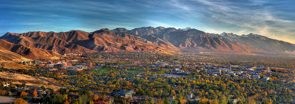 The University of Utah's campus in the fall.